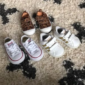 Converse, Adidas, Cat and Jack Size 4 baby/toddler